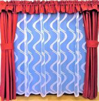 Záclona kusová - Vlny 220x400 cm (bílá) SKLADEM POSLEDNÍ 1KS