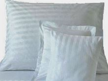 Damaškový povlak na polštář 60x80cm proužek bílý 2 cm HOTELOVÝ uzávěr