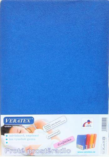 Froté prostěradlo 180x220 cm (č. 3-tm.modrá)