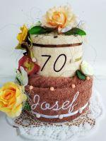 Veratex Textilní dort se jménem dvoupatrový