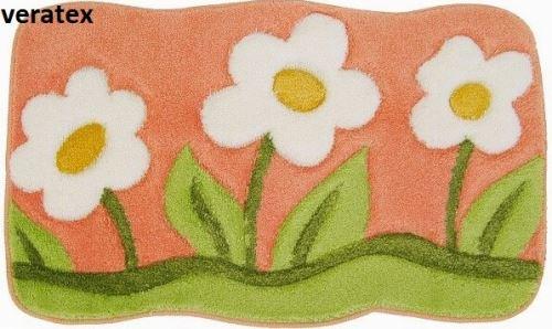 Koupelnová předložka LUX květy 60x100 cm