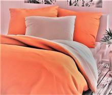 Bavlněný povlak na polštář 70x90cm oranžovo/bílé