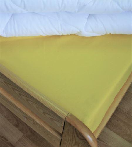 Bavlněné prostěradlo jednolůžko 140x240 cm (citronové)