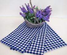 Utěrka tkaná kanafas 45x70cm modré srdíčko 100% Bavlna