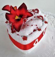 Veratex Textilní dort zákusek srdce malé - průměr 15cm
