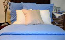 Flanelové povlečení prodloužené 70x90, 140x220 (modré)