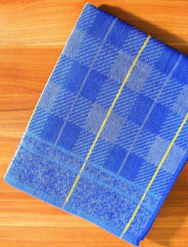 Froté ručník 50x90 cm (modrá kostička)