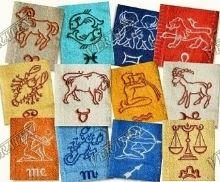 Froté ručník se znamením - ryby 50x100 (tm.modrá)