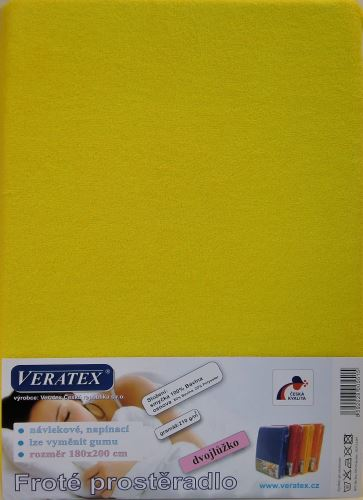 Froté prostěradlo 140x220 cm (č. 6-stř.žlutá)