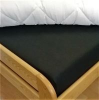 Bavlněné prostěradlo jednolůžko 140x240 cm (černá)