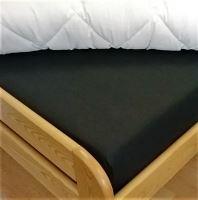 Plátěné prostěradlo prodloužené s gumou 90x220cm (černá)