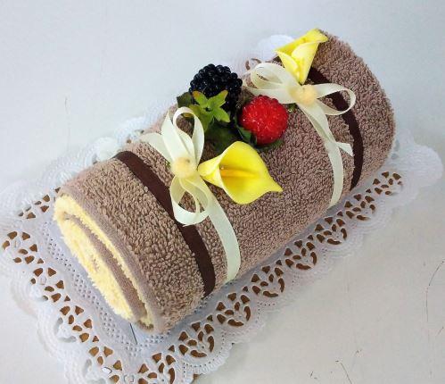 Veratex Textilní dort roláda čokoládová malá