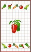 Utěrka 40x70cm papriky 100% Bavlna