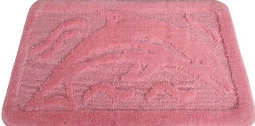 Koupelnová předložka růžová delfín 50x80 cm