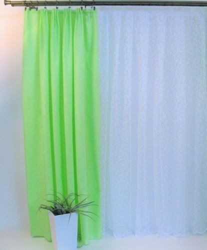Dekorativní látka na závěsy  Orlando - zelinkavá- šíře 160cm