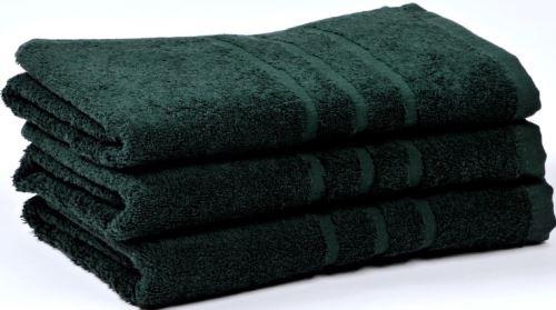 Froté ručník UNI 50x100 cm tm.zelený