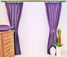 Závěs Orlando stř. fialový - výška 290/ šířka 150cm