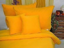 Jersey povlečení  dětské 45x64 90x130 (č. 7-sytě žlutá)
