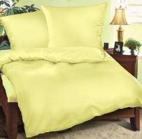 Bavlněný povlak na polštářek 40x40cm světle žluté