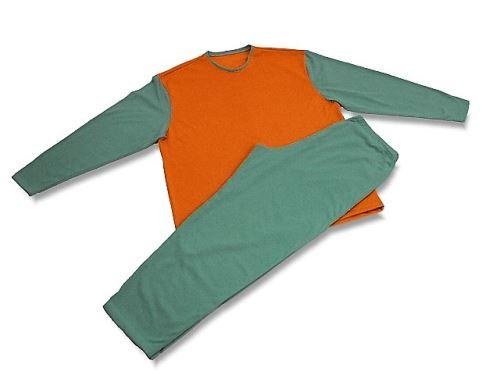 Pánské pyžamo 2823 zelená-oranžová (M)