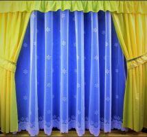 Záclona kusová - Hvězdička 250x600 cm (bílá) SKLADEM POSLEDNÍ 1KS