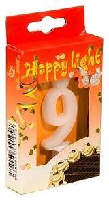 Svíčka dortová -9- krabička 70mm (7914)