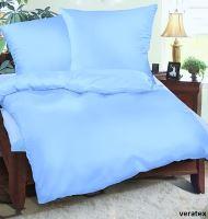 Krepové povlečení  70x90, 140x200 cm (sv.modré)