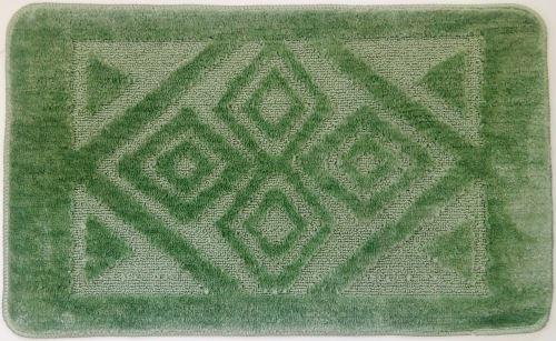 Koupelnová předložka 50x80 cm zelené velké kosočtverce