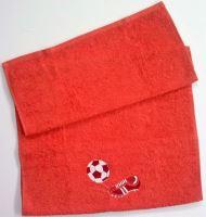 Ručník s výšivkou fotbalové kopačky a míče 50x100 masová (zakázkový produkt dodání do 14 dní)