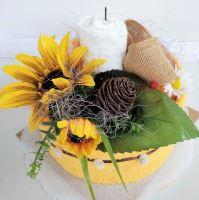 Veratex Textilní dort žlutá slunečnice