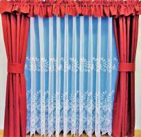 Záclona kusová - Zvonky 220x200 cm (bílá) SKLADEM POSLEDNÍ 1KS