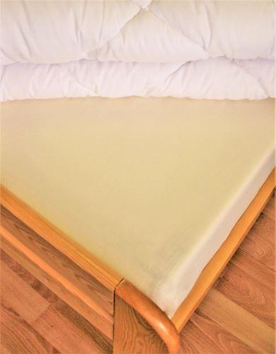 Bavlněné prostěradlo jednolůžko 140x240 cm (smetanové)
