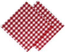 Utěrka tkaná kanafas 45x70cm červené srdíčko 100% Bavlna (1ks)