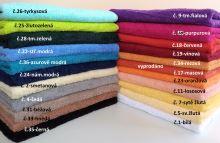Froté ručník s výšivkou Z lásky 50x100 cm 20 barev