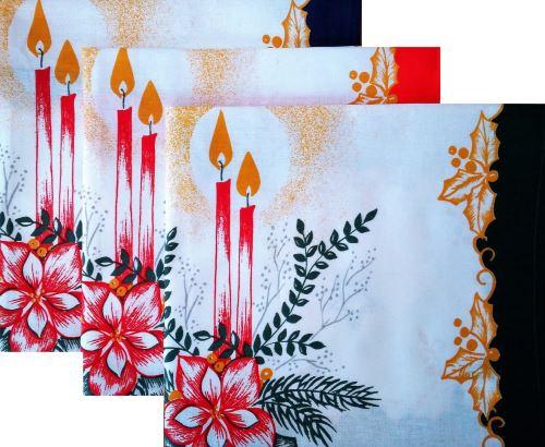 Bavlněné utěrky svícen 50x70cm BALENÍ (3ks) 100% Bavlna vánoční