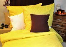 Bavlněné povlečení 70x90 140x200 sytě žluté