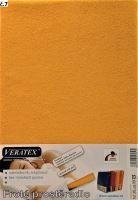 Froté prostěradlo jednolůžko 100x200/25cm (č. 7-sytě žluté)