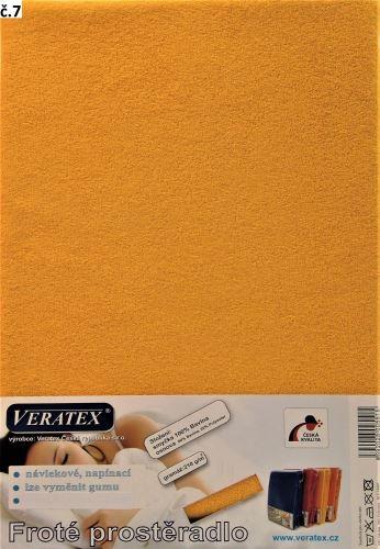Froté prostěradlo jednolůžko 90x200/16cm (č. 7-sytě žlutá)
