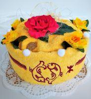 Veratex Textilní dort s výšivkou znamením horoskopu 22 barev (barvu dortu zadejte do poznámky společně se znamením)