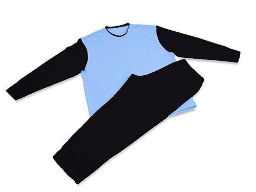 Pánské pyžamo 3521 černá-sv.modrá (XXXL)