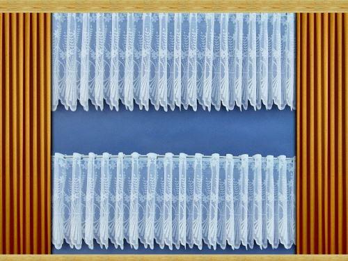 Záclona Kytice výška 80 cm (bílá)