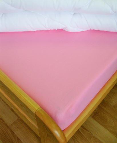 Prestieradlo flanelové 1L UNI 140x240 (ružové)