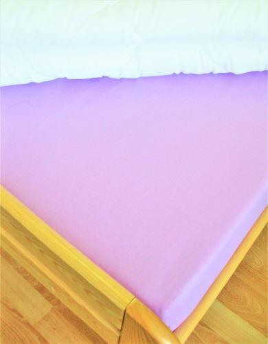 Bavlněné prostěradlo jednolůžko 140x200 cm (fialkové)