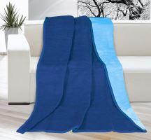 Deka KIRA PLUS 150x200 cm - sv.modrá/tmavě modrá