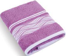 Froté ručník Vlnky 480g 50x100 cm (lila)