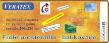 Froté prostěradlo  batika 200x220 cm sv.rezavá batika