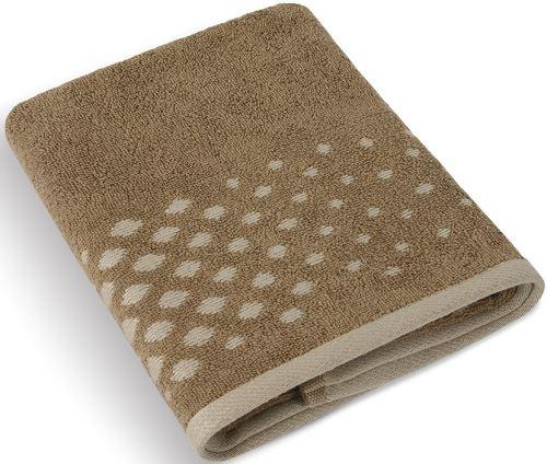 Froté osuška Béžová řada 70x140 cm (hnědá mozaika)