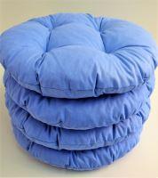 Sedák prošívaný kulatý průměr 40 cm (modrý)