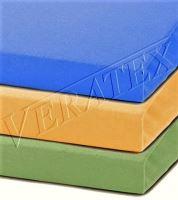 Jersey prostěradlo  jednolůžko 90x200/15 cm (č. 7-sytě žlutá)