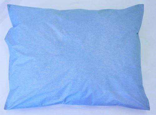 Povlak polštář bez náplně sypkovina modrá 70x90 cm